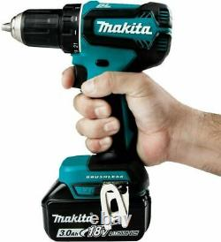 Makita XFD131 18v LXT Lithium Ion Brushless Cordless 1/2 Driver Drill Kit withLED