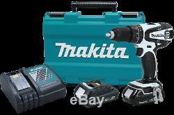 Makita XPH01RW 18V LXT LithiumIon Cordless 1/2 Hammer DriverDrill Kit