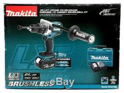 Makita XPH07MB Brushless Hammer-Driver Drill Kit, 1/2, 18v