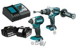 Makita XPH07Z 18V LXT BL Hammer Drill & XDT13Z BL Impact Driver Kit w 3.0Ah bat