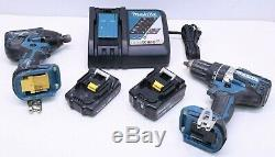 Makita XPH12 1/2 Hammer Drill / XDT08 Impact Driver 18V LXT Brushless Cordless