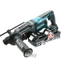 Makita XRH04Z 18V LXT Cordless 7/8-Inch 5.0 Ah Batteries Rotary Hammer Drill