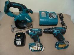 Makita XSC01 18V 5-3/8 Metal Cutting Saw 18v Battery + Drill & Driver w Charger