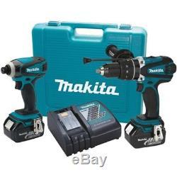 Makita XT218M 18V LXT Hammer Drill / Impact Driver 2-Tool Cordless Combo Kit 4