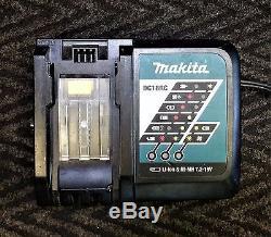 Makita XT218M 18V LXT Lithium-Ion Cordless 2-Tool Drill/Impact Kit Charger