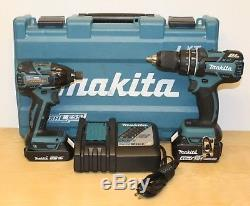 Makita XT248R 18V LXT Li-Ion Hammer Drill/ Impact Driver Combo Kit 184810-1