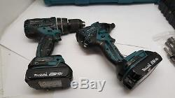 Makita XT248R 18V Li-Ion Brushless Drill Driver 2 Piece Kit Bundle XDT08 XPH06
