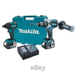 Makita XT257M 18V 4.0ah LXT Hammer Drill & Impact Driver Tool Kit New