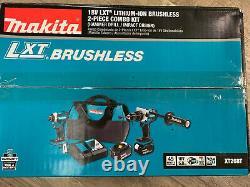 Makita XT268T 18V LXT Li-Ion Brushless Hammer Drill & Impact Driver Kit 5.0 Ah
