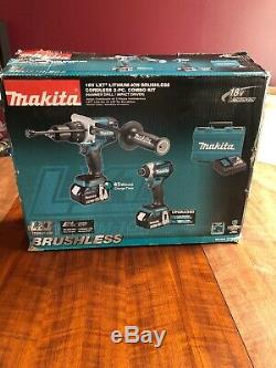 Makita XT268T 18V LXT Li-ion (2) Pc Combo Kit (Hammer Drill/ Impact Driver) 5AH