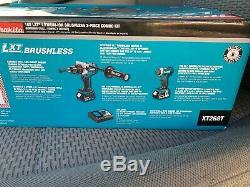 Makita XT268T 18V LXT Lithium-Ion Brushless Hammer Drill & Impact Driver New