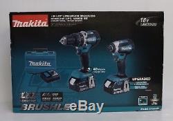Makita XT269M 18V LXT Brushless Cordless Hammer Drill / Impact Driver Combo Kit