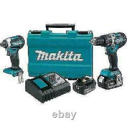 Makita XT269M 18V LXT Brushless Drill/Driver Combo Kit. NEW