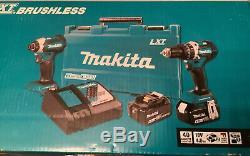 Makita XT269M 18V LXT Hammer Drill Impact Driver 2-Tool Combo Kit 4 Ah NEW NIB