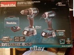 Makita XT269R 18V LXT Hammer Drill Impact Driver Tool Kit (2 Ah) XDT13Z XPH12Z