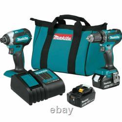 Makita XT281S 18V Brushless Cordless 2-Tool Driver Combo Kit (Drill /impact)-New