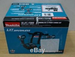 Makita Xt281s 18-v Lxt 3.0ah 2-tool Drill Driver And Impact Driver Combo Kit Nib
