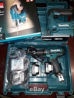 Makita drill and jigsaw set (plus 2 batteries/charger)