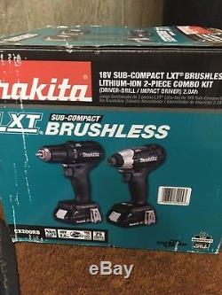 NEW! Makita 18V LXT Li-Ion Sub-Compact 2pc. Combo drill impact Kit CX200RB NIB