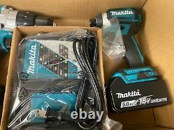 NEW Makita XT268T 18V LXT Lithium Brushless Hammer Drill & Impact Driver Kit