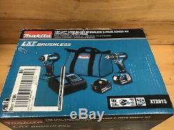 New! Makita 18V LXT Li-Ion Brushless 2pc Combo Kit Drill Driver/Impact (XT281S)