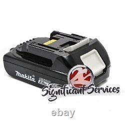 New Makita 18V XDT11 Cordless 1/4 Impact Driver Drill 2.0 Ah Battery BL1820B