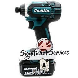New Makita 18V XDT11 Cordless 1/4 Impact Driver Drill 3.0 Ah Battery BL1830B