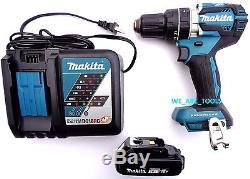 New Makita Brushless 18V XPH12 1/2 Hammer Drill, (1) BL1820 Battery, 1 Charger