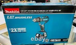 New Makita XFD131, 18V LXT LithiumIon Brushless Cordless 1/2 DriverDrill Kit