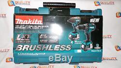 New Makita XT248 18V LXT Li-Ion Cordless Brushless Impact & Hammer Drill Kit