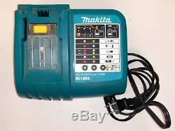 Used Makita 18v 5.0ah Combo Kit Blower/Vacuum-Drill/Driver-Flashlight-Charger