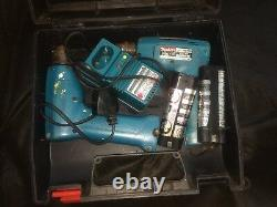 Vintage Makita 6012D x2 Cordless Driver Drill Complete Charger 2 Batteries